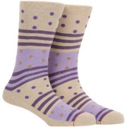 Soxytoes Ribbon And Rolls Beige Cotton Calf Length Pack of 1 Pair for Men Formal Socks (STS0014D)