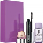 Clinique confezione regalo 7 ml high impact mascara nero + 5 ml all about eyes eye crema + 30 ml struccante