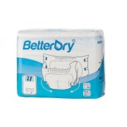 BetterDry Adult Briefs, Poly-Backed with a Thick Core Keeps You Dry All Day and Night, Comfortable and Full Range of Movement (Medium 4 Bag)