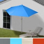 Sonnenschirm halbrund Parla, Halbschirm Balkonschirm, UV 50+ Polyester/Alu 3kg ~ Variantenangebot
