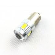 Ampoule H6W LED 3D 6 SMD- Anti Erreur OBD - Culot W5W - Blanc Pur