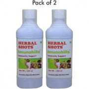 Immunity enhancer and metabolism booster formula natural syrup for all - 500ml flavoured ready to drink shots - 2 Bottles