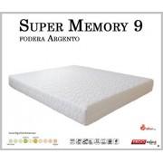 ErgoRelax Materasso Memory Mod. Super Memory 9 da Cm 140x190/195/200 Argento Sfoderabile Altezza Cm. 23 - Ergorelax