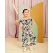 Milla Star Jumpsuit met print Communie allover bloemenprint