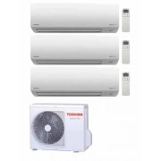 Toshiba Climatizzatore Condizionatore Trial Split Toshiba 9000+9000+9000 9+9+9 Akita Evo Ii Ras-3m18s3av-E