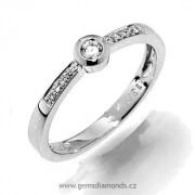 GEMS elegantní prsten s diamanty Ida, bílé zlato 386-1257