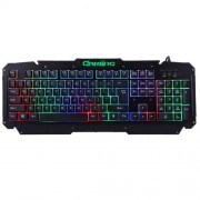 M500-S Multimedia USB 104 Keys Wired Colorful Backlight Metal Gaming Keyboard for Computer PC Laptop(Black)