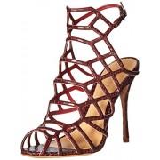 Schutz Women's Juliana Dress Sandal, Red Wine, 9.5 M US