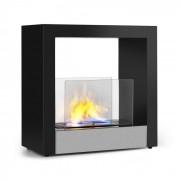 Klarstein Phantasma Cube, камина с етанол, без дим, горелки от неръждаема стомана, 4 часа работа, неръждаема стомана (GDW23-Phantasma Cube)