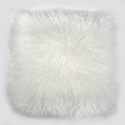 Perna cu piele de oaie LW Tibetan 50x50cm Velvet Ivory CLTS50V-TIY