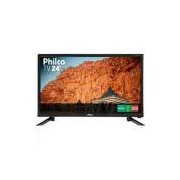 """Tv Led Hd 1366x768p 24"""" Philco Bivolt Ph24n91d"""