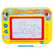 Tresbro Doodle Pro Colorful Magnetic Drawing Board for Kids/Toddlers/Babies, Mini Learning Toy Magic Magical Magna /Scribble/Writing/Draft/Sketch Tablet Pad
