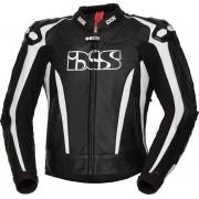 IXS X-Sport LD RS-1000 Motorcycle Leather Jacket Black White 60