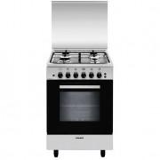 Glem Gas A554vi Cucina 53x50 4 Fuochi A Gas Forno A Gas Ventilato Con Grill Elet
