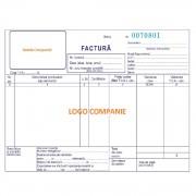 Facturi Personalizate A5 in 3 Exemplare, 50 Seturi/Carnet, Tipar 1+0, Formulare Tipizate Autocopiative, Facturier Personalizat, Tipizate Personalizate, Formulare Autocopiative Personalizate