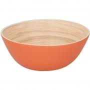 Geen Bamboe serveerschaal oranje 17 cm