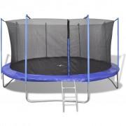vidaXL Set trambulină cu 5 piese, 3,66 m