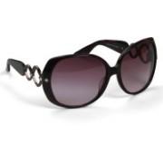 Celine Dion Oval Sunglasses(Violet)
