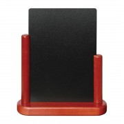 Securit Half Frame Table Top Blackboard 280mm x 200mm Mahogany