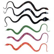 ELECTROPRIME Lot of 6pcs Rubber Snake Toys Snakes Party GAG GIFT Halloween Prop Joke