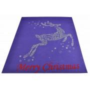 Tappeto viola Renna di Natale 100x120 cm. V1