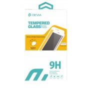 Folie Protectie Sticla Temperata Devia 3D Edge pentru iPhone 6 Plus + Folie Spate (Transparent/Negru)