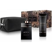 Bvlgari Man in Black Barbati Set Eau de parfum 100 ml + Lotiune after-shave 100 ml