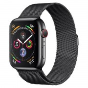 Apple Watch Series 4 GPS + Cellular 40mm Aço Inoxidável Preto Sideral com Bracelete Milanese Preta