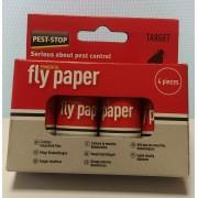 Спирала-капан с лепило за мухи и други летящи насекоми - 4 бр.