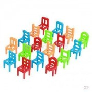 Alcoa Prime 2x Chair Stack Game Educational Stacking Chairs Balance Game Desktop Toy Puzzle