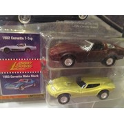 Johnny Lightning Classics Customs Corvettes: 1982 Corvette T-Top & 1965 Mako Shark
