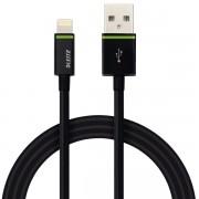 Cablu de date Leitz Complete Lightning - USB, 2 m, negru