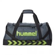 hummel Sporttasche AUTHENTIC - dark/slate/green flash | M