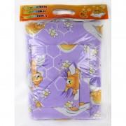 Бебешки спален комплект PURPLE BEAR - 100% Памук