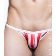 Mategear Mun Kyung Maximizer Ultra Jock Strap Swimwear White/Red 1501003