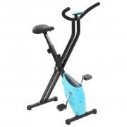 vidaXL Bicicleta estática X-Bike resistência de correia azul