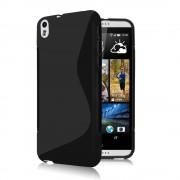 Силиконов гръб S-Line за HTC Desire 816 Черен
