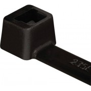 Colier cablu, stabil la intemperii, UV poliamida 6.6 (PA66W), tip T120M, 460 x 7.6 mm, Ø fascicul 130 mm, la pachet, 100 bucati