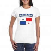 Bellatio Decorations Panamese vlag shirt wit dames