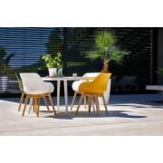 Hartman Sophie Organic Teak Tuinstoel - Set Van 2 - Curry Yellow NU Met Gratis Zitkussens Twv.? 25,00