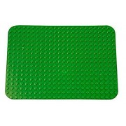 "Premium Dark Green Base Plate 15"" X 10.5"" Baseplate (Lego Duplo Compatible)"