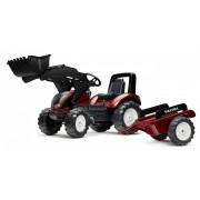 FALK Tractor cu pedale 4000 AM VALTRA S4 cu încărcător frontal și remorcă