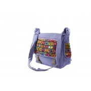 Bohemian Fair Trade Tas Mayablouse Leren Gespen Lila