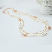 Colier Sautoir perle si cristale