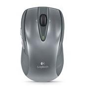 Logitech M545 Mouse - Optical - Wireless - Silver