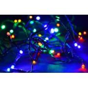 Karácsonyi LED fényfüzér 10m - színes, 100 dióda
