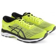 Asics GEL-KAYANO 24 Running Shoes For Men(Black, Yellow)