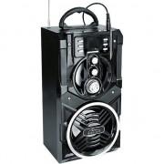 Boxa Karaoke Portabila Media-Tech Partybox BT, Radio FM, MP3 Player, 18W RMS, cu Subwoofer, Incinta Lemn, USB + SD, Telecomanda, Antena, Negru