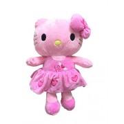 Creativevilla Cute Soft Imported Hello Kitty Plush Stuffed Soft Toy for Kids 35 cm ( Light Pink )