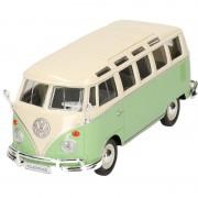 Maisto Modelauto Volkswagen T1 Samba groen 1:24